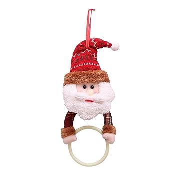Luerme Decoraciones de Navidad Toallero de baño Titular y Organizador Toalla de servilleta de Navidad Conjunto de Cocina Baño: Amazon.es: Hogar