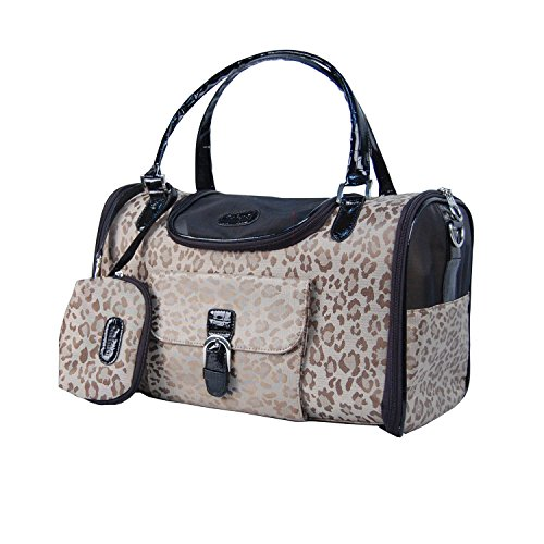 Gold Pet Carrier - Anima Dog Carrier for Small Dogs Below 8-Pound, Medium, Gold Leopard
