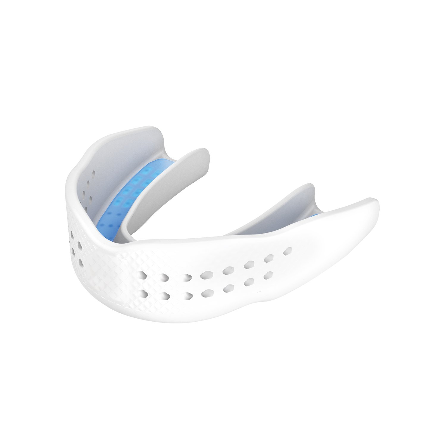 Shock Doctor 8802A Superfit All Sport Strapless Mouth Guard, Adult, White