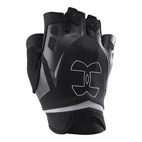 Under Armour Men's Flux Half-Finger Training Gloves, Black /Steel, Large