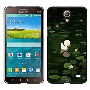Samsung Galaxy Mega 2 / SM-G750F / G7508 Único Patrón Plástico Duro Fundas Cover Cubre Hard Case Cover - Sweet Cute Pond Drawing Green Animal