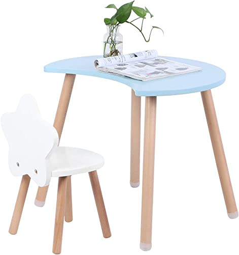 POCREATION Blue Table Chair Set