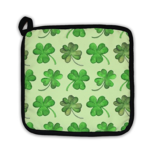 Gear New Watercolor Clover Shamrock Saint Patricks Day Pattern Pot - Express Gear Throw Womens