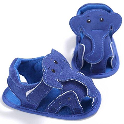 Tefamote Sandalias Zapatos de Suela Blanda Cuna Para Bebé Recién Nacido Niño niña Azul