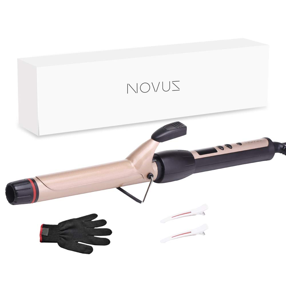 Curling Iron 1 inch Professional Curling Wand Hair Curler,Instant Heat Ceramic Curling Iron with Adjustable Temp Hair Products by NOVUS