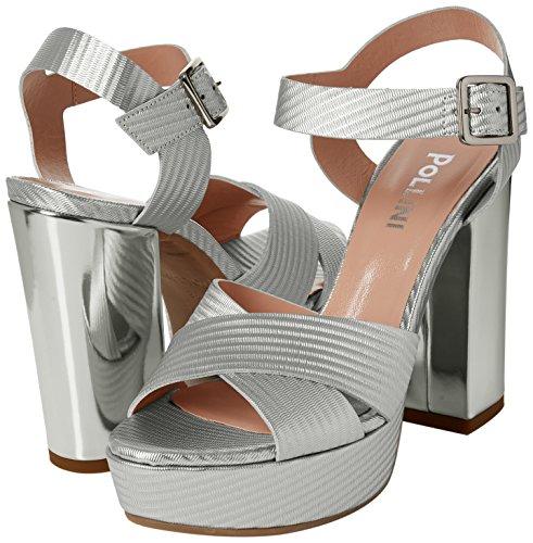 Alla sandal Cinturino Argento argento Caviglia Con Donna 902 W Sandali Pollini 5Uwxn4IXq5