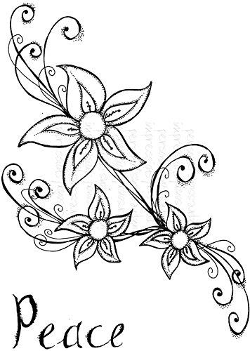 Lindsay Mason Designs Lm Sellos Para Tatuajes Con Diseño De Flores