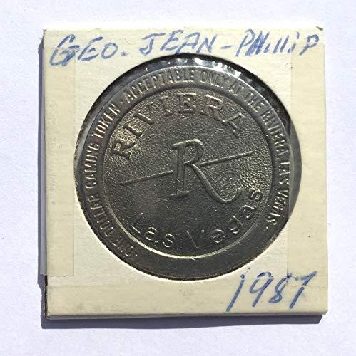 1986 Riviera Casino, Las Vegas, Nevada One Dollar Gaming Token (Obsolete Design) $1 Used
