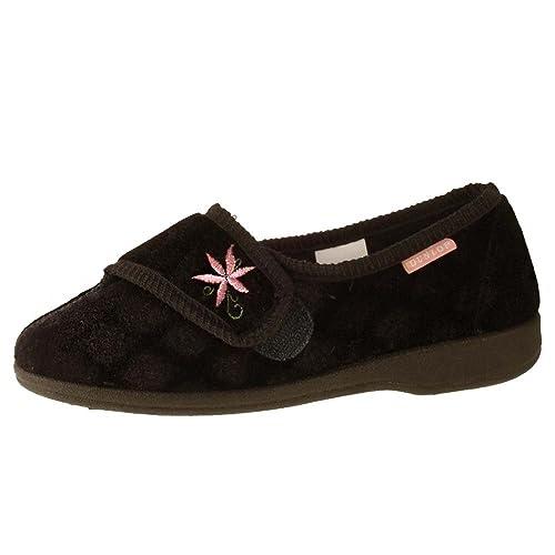 Dunlop - Zapatillas de estar por casa para mujer, color azul, talla 41.5: Amazon.es: Zapatos y complementos