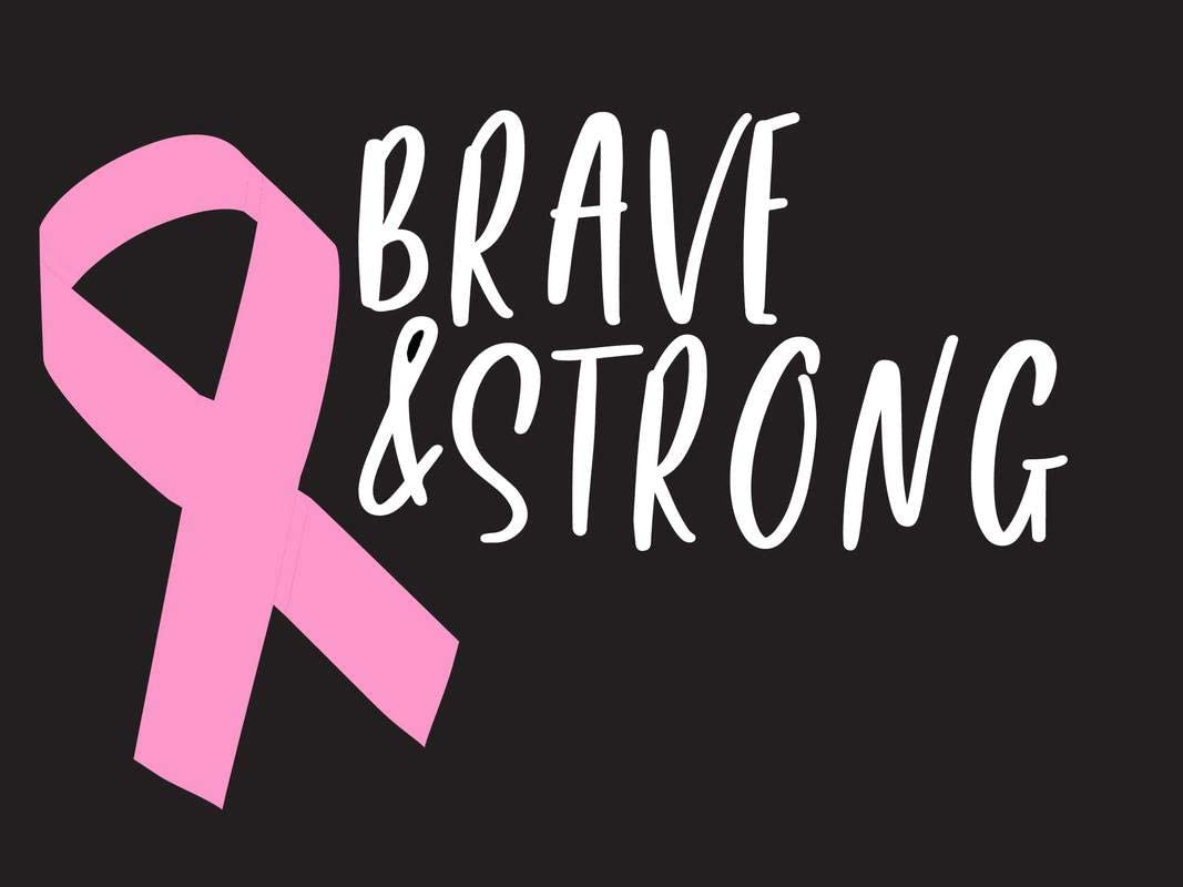 Brave and Strong Pink Breast Cancer Ribbon NOK Decal Vinyl Sticker |Cars Trucks Vans Walls Laptop|White|7.5 x 5.0 in|NOK328