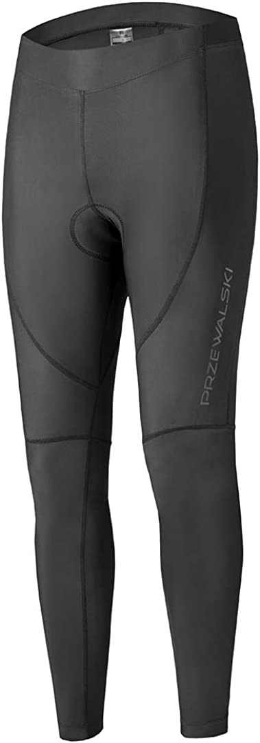 Przewalski Men's Cycling Tights 4D Padded Bike Pants Long Compression Outdoor Riding Bicycle Leggings, Classic Series