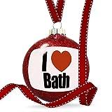 Christmas Decoration I Love Bath region: South West England, England Ornament