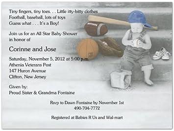 Amazon little sport baby shower invitations set of 20 baby little sport baby shower invitations set of 20 filmwisefo