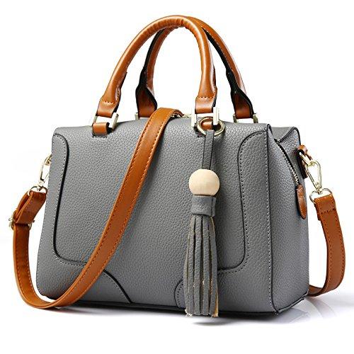 focus-womens-vintage-cute-tassel-decorations-pu-leather-shoulder-bags-tote-bagsgrey