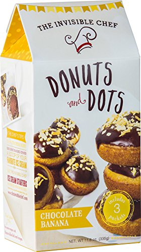 The Invisible Chef Donuts & Dots Mix (Chocolate Banana, 11.8 Ounce)