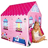 Cottage Playhouse Girl City House Kids Secret Garden Pink Play Tent by PTLF