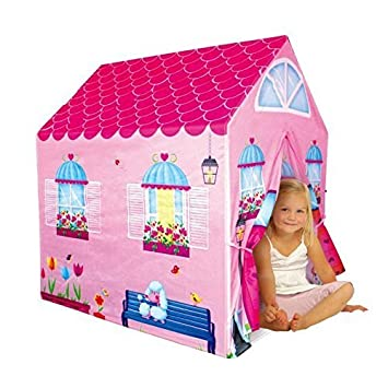Cottage Playhouse Girl City House Kids Secret Garden Pink Play Tent by PTLF  sc 1 st  Amazon.com : girl play tents - memphite.com