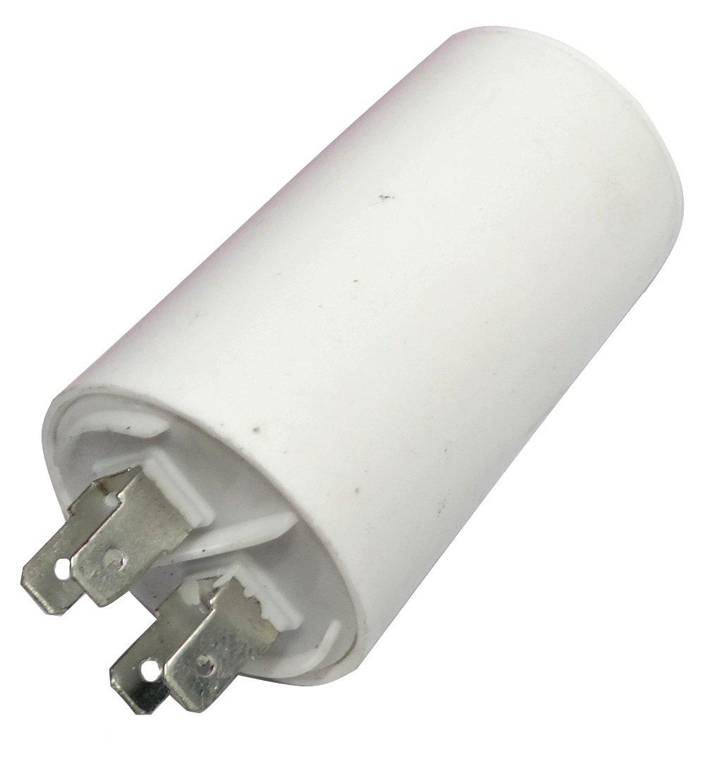 Aerzetix: Condensateur permanent de travail pour moteur 16µ F 450V avec cosses Ø 40x70mm ± 5% 3000h C18657 C18657-AL646