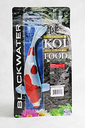 - Blackwater Premium Koi and Goldfish Food Color Enhancing Diet 2 lb, Medium Pellet