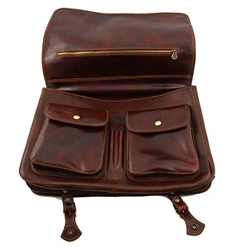Tuscany Leather - Ancona - Messenger Tasche aus Leder - Gross Braun - TL10025/1 Braun