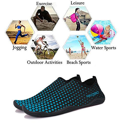 Barefoot Men Athletic blue Socks Aqua Shoes 1 Women Water WYSBAOSHU wgAfRA