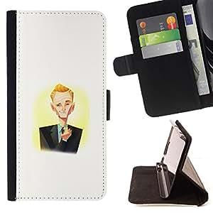 BullDog Case - FOR/Samsung Galaxy Note 3 III / - / Barney Stint /- Monedero de cuero de la PU Llevar cubierta de la caja con el ID Credit Card Slots Flip funda de cuer