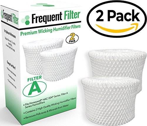 Free Wick - Frequent Filter - Compatible Honeywell Germ Free Cool Mist Wicking Humidifier, Filter A. Fits HCM 350, HCM350w, HCM350, Quietcare More. Replacement HAC 504, HAC504, 504AW - (Pack of 2)