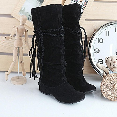 Shoes for Ladies Thigh Boots Women HCFKJ High Black Motorcycle Heighten Platforms Tessals Christmas Winter 6Pvx7wq