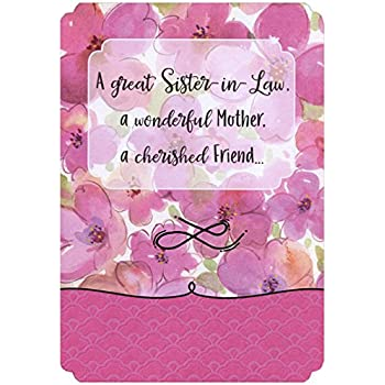 amazon com pink watercolor flowers sister in law mother s day