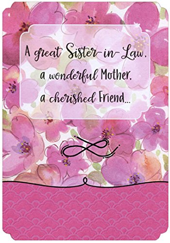Amazon pink watercolor flowers sister in law mothers day pink watercolor flowers sister in law mothers day card m4hsunfo