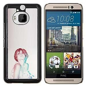 LECELL--Funda protectora / Cubierta / Piel For HTC One M9Plus M9+ M9 Plus -- Jengibre Mujer Vignette Retro --