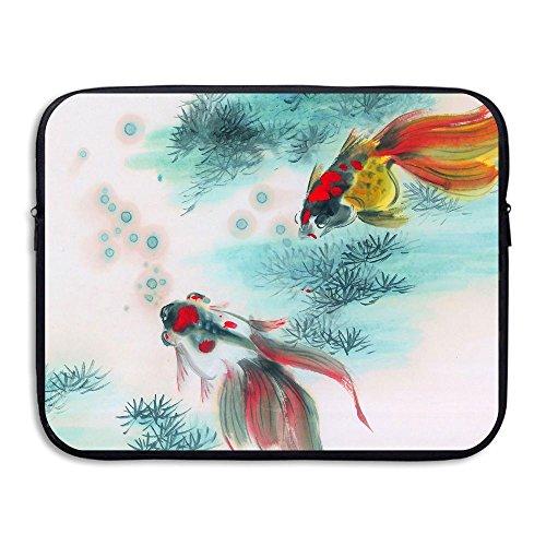 Computer Bag Laptop Case Slim Sleeve Goldfish Painting Waterproof 13-15 Inch IPad Macbook Surface Book Notebook Ultrabook