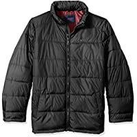 Tommy Hilfiger Mens Tall Size Down Midweight Quilted Puffer Jacket (L/XL/2X/3X) (Black or Blue)