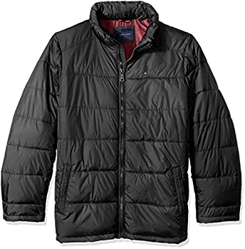 Tommy Hilfiger Tall Mens Down Midweight Quilted Puffer Jacket