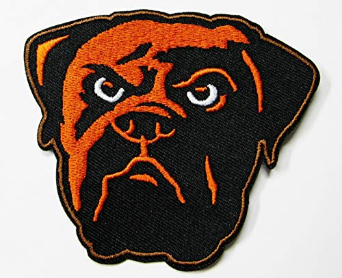 NFL Cleveland Browns Football (DAWG Head) Embroidered Patch 3 1/2