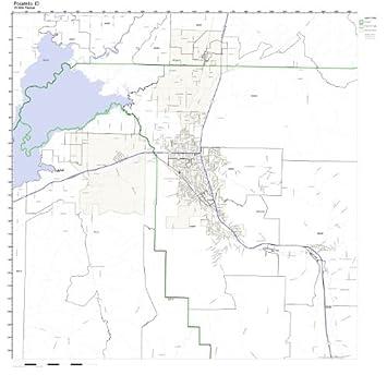 Pocatello Zip Code Map.Amazon Com Pocatello Id Zip Code Map Laminated Home Kitchen