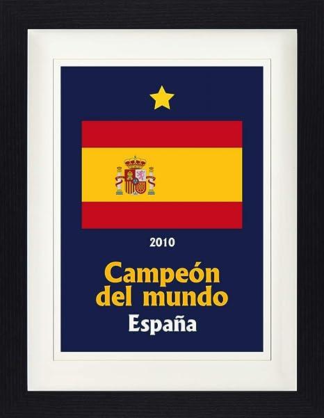 1art1 Fútbol - España Campeon del Mundo 2010 Póster De Colección Enmarcado (40 x 30cm): Amazon.es: Hogar