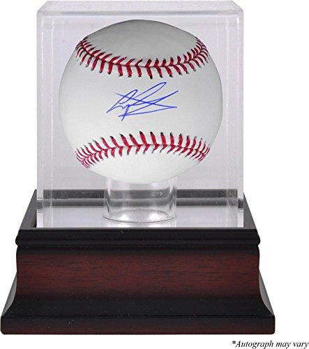 (Gregory Polanco Pittsburgh Pirates Autographed Baseball and Mahogany Baseball Display Case - Fanatics Authentic)