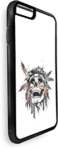 A red Indian skull Printed Case for iPhone 7 Plus