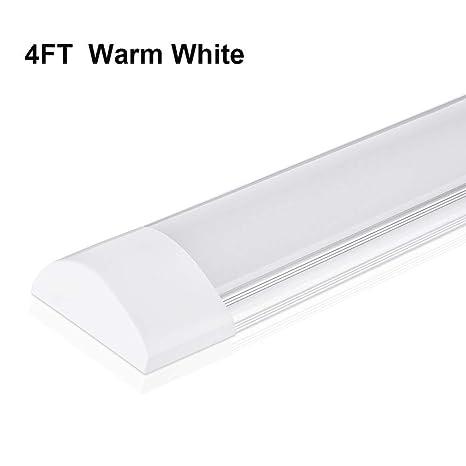 Sararoom 4ft Led Shop Light Fixture 40w Led Tube Light 4800lm 3200k Warm White 4 Feet Led Garage Closet Light Ceiling Light For Office Home