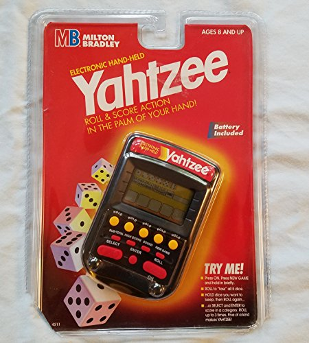 Electronic Handheld Yahtzee - Clear black by Yahtzee