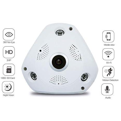 Amazon.com: ZLMI - Cámara IP panorámica de 360 grados para ...