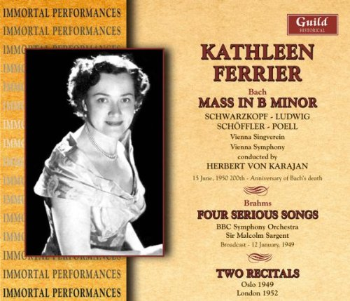 Price comparison product image Mass in B minor / Four Serious Songs / Fairy Queen