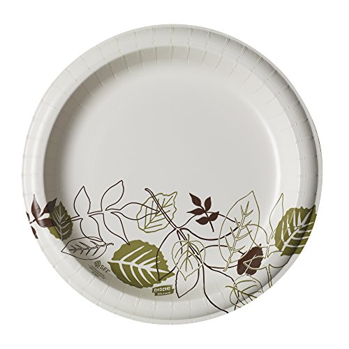 """Dixie Ultra 10""""Heavy-Weight Paper Plates by GP PRO (Georgia-Pacific), Pathways, SXP10PATH, 500 Count (125 Plates Per Pack, 4 Packs Per Case)"""
