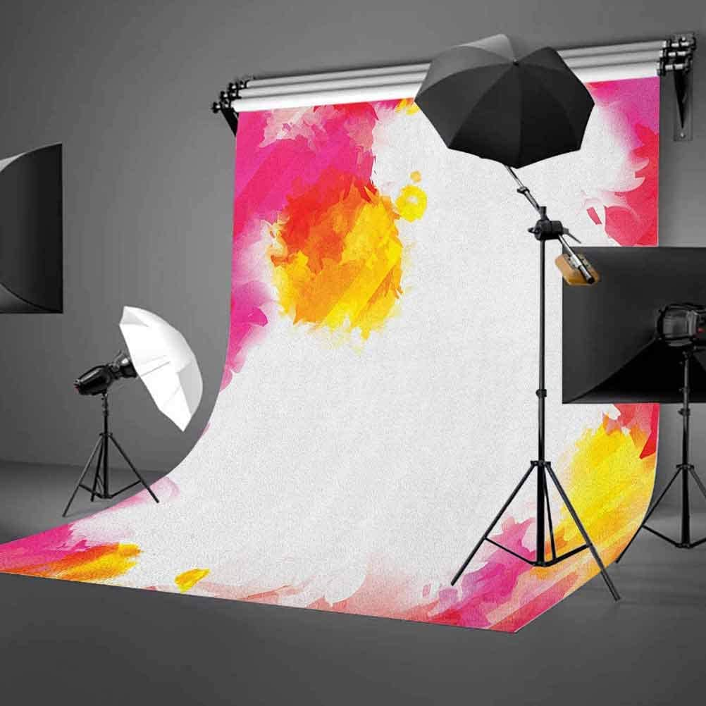 9x16 FT Vinyl Photography Backdrop,Framework with Watercolor Vibrant Paint Splashes Artistic Creativity Themed Print Background for Graduation Prom Dance Decor Photo Booth Studio Prop Banner