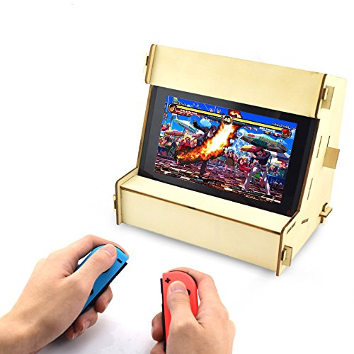 DIY Retro Arcade Cabinet Stand For Nintendo Switch Holder For NS Console Controller Hardwood Bracket