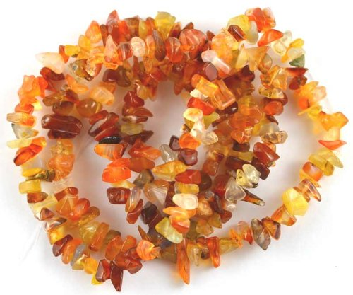 - BAROQUE NUGGET CHIP NATURAL CARNELIAN 3X8-3X12MM GEMSTONE BEADS 36