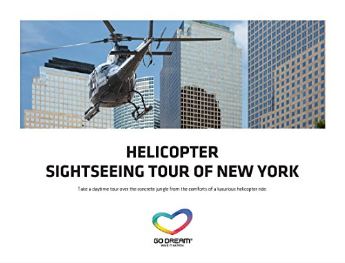 Helicopter Tour Sighseeing Experience in New York Gift Card NYC - Sent in a Gift Package