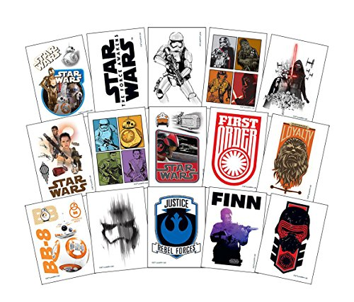 Star Wars The Force Awakens Temporary Tattoos (Set of 15 Sheets) (Includes BB-8, Finn, Rey, and Kylo Ren) -