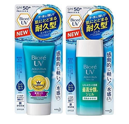 Biore Sunscreen SPF 50 1 1 Watery Gel Watery Essence Set 90ml 50g